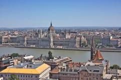 Widok Węgierski Parlament Zdjęcie Royalty Free