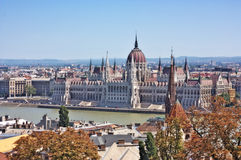 Widok Węgierski Parlament Zdjęcia Royalty Free