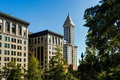 Widok w kierunku Historycznego budynku w Seattle Waszyngton Jednoczył Stat Obraz Royalty Free