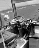 Widok W kierunku Kierowców Siedzenia Autobus Obrazy Stock