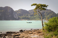 Widok w kierunku mola przy Ko Phi Phi, Tajlandia Obraz Royalty Free