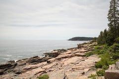 Widok w kierunku Newport zatoczki w Acadia parku narodowym Zdjęcie Stock