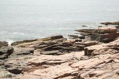 Widok w kierunku Newport zatoczki w Acadia parku narodowym Zdjęcie Royalty Free