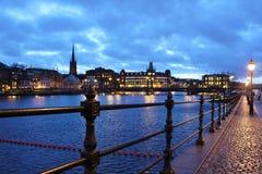 Widok w kierunku Riddarholmen Zdjęcie Royalty Free
