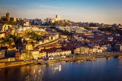 Widok w kierunku wino lochów Porto Obrazy Royalty Free