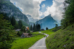Widok w od góry w Szwajcaria Zdjęcia Stock