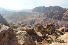 Widok w Petra, Jordania Zdjęcia Royalty Free