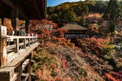 Widok W przy w kierunku Kiyomizu-dera świątyni w Kyoto Obrazy Stock