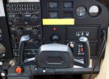 Widok w samolotowym cocpit Zdjęcia Royalty Free