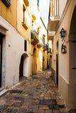 Widok wąska ulica w Gallipoli Fotografia Royalty Free