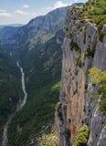 Widok wąwozy Verdone, Francja - Zdjęcia Royalty Free