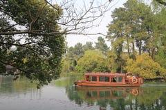 Widok w Zachodnim Jeziornym Kulturalnym krajobrazie Hangzhou obrazy royalty free