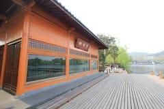 Widok w Zachodnim Jeziornym Kulturalnym krajobrazie Hangzhou obrazy stock