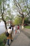 Widok w Zachodnim Jeziornym Kulturalnym krajobrazie Hangzhou zdjęcia stock
