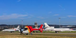 Widok w Zurich lotnisku Fotografia Royalty Free