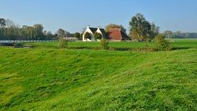 Widok Waarhuis w Aduarderzijl Fotografia Stock