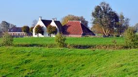 Widok Waarhuis w Aduarderzijl Zdjęcia Royalty Free
