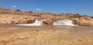 Widok wadi Darnah zdjęcia royalty free