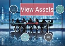 Widok wartości Savings wartości Inwestorski pojęcie obrazy royalty free