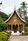 Widok wat Phaphay w Luang Prabang, Laos zdjęcia royalty free