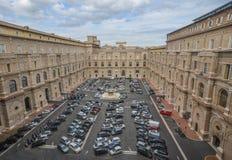 Widok Watykański muzeów Budować zdjęcia royalty free
