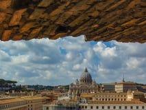 Widok watykan - Rzym, Włochy zdjęcia stock