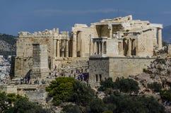 Widok wejście akropol Ateny Obraz Stock