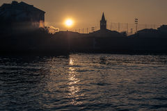 Widok Wenecja od kanału Fotografia Royalty Free