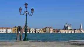 Widok Wenecja z naprzeciw laguny przy Giudecca Zdjęcie Royalty Free
