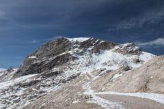 Widok Wettersein góry blisko Zugspitze Zdjęcie Stock