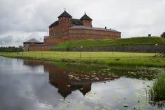 Widok więzienie Hymeenlinna na brzeg jeziorny Vanajavesi Finlandia Obrazy Royalty Free