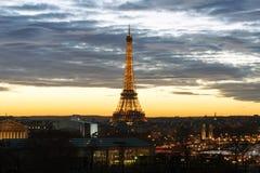 Widok wieża eifla i swój otoczenia w Paryż Zdjęcie Royalty Free