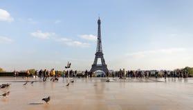 Widok wieża eifla od Trocadero Obraz Stock