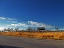 Widok wieś na drodze Zdjęcie Stock