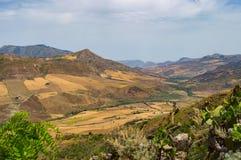 Widok wieś, pola i wzgórza w regionie Baghe, Fotografia Royalty Free