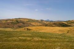Widok wieś, pola i wzgórza w regionie plebanu, Obrazy Royalty Free
