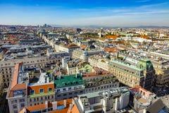 Widok Wiedeń od StStephan katedry Fotografia Stock