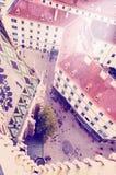 Widok Wiedeń od StStephan katedry dachu z instagram skutka rocznika retro filtrem Obrazy Stock