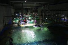 Widok wielcy akwaria oceanarium z góry w St Petersburg oceanarium, zdjęcie stock