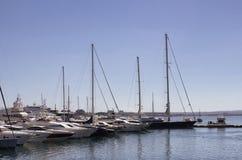 Widok wiele łodzie i jachty Fotografia Stock