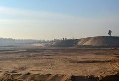 Widok wielka piasek jama Produkcj pożytecznie kopaliny kolonel zdjęcia stock