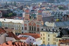 Widok Wielka synagoga w Plzen Fotografia Royalty Free