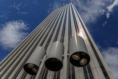 Widok wielki biały biznesowy budynek Fotografia Royalty Free