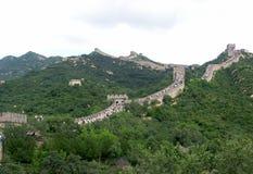 Widok wielki mur Chiny Zdjęcie Royalty Free