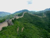 Widok wielki mur Chiny Obrazy Royalty Free