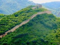 Widok wielki mur Chiny Zdjęcia Royalty Free