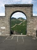 Widok wielki mur Chiny Zdjęcie Stock