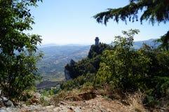 Widok wierza w San Marino Obrazy Stock