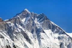 Widok wierzchołek Lhotse, południe skały twarz Obraz Royalty Free
