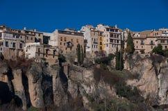 Widok wieszać domy Cuenca stary miasteczko Przykład medieva Obraz Royalty Free